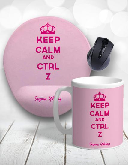 Keep Calm and CTRL Z Kupa Bardak ve Mouse Pad