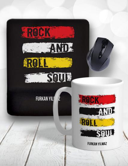Rock and Roll Kupa Bardak ve Mouse Pad