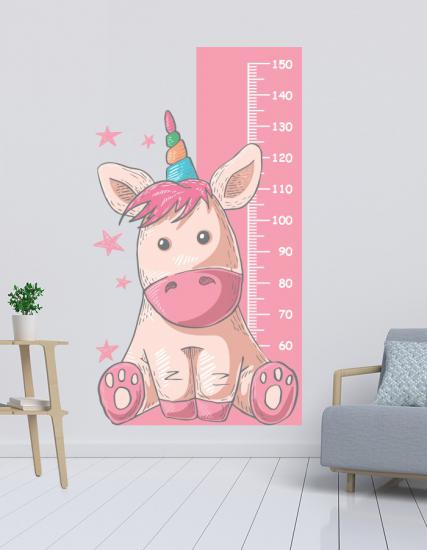 Baby Unicorn Boy Ölçer Sticker 3